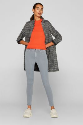 Super stretch jeans made of tracksuit fabric, GREY BLUE, detail