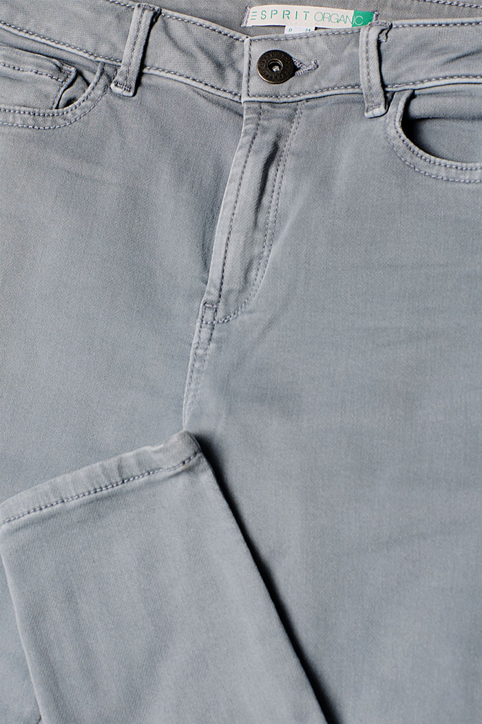 Super stretch jeans made of tracksuit fabric, GREY BLUE, detail image number 4