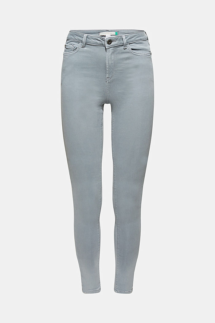 Super stretch jeans made of tracksuit fabric, GREY BLUE, detail image number 0