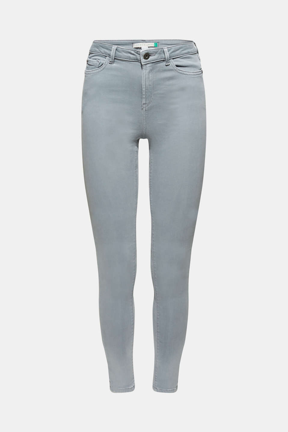 Super stretch jeans made of tracksuit fabric, GREY BLUE, detail image number 7