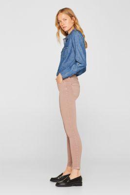 Super stretch jeans made of tracksuit fabric, DARK MAUVE, detail
