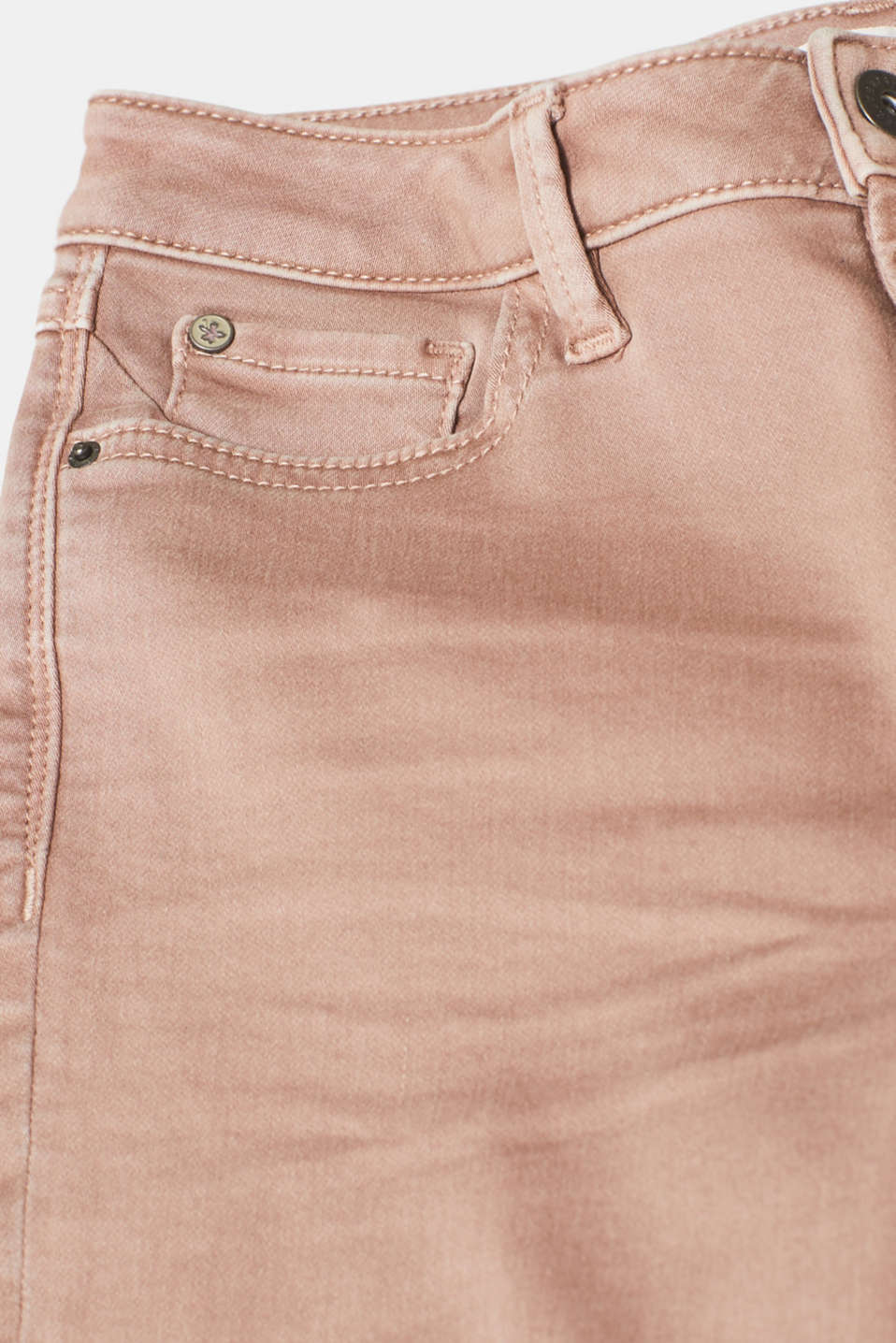 Super stretch jeans made of tracksuit fabric, DARK MAUVE, detail image number 4