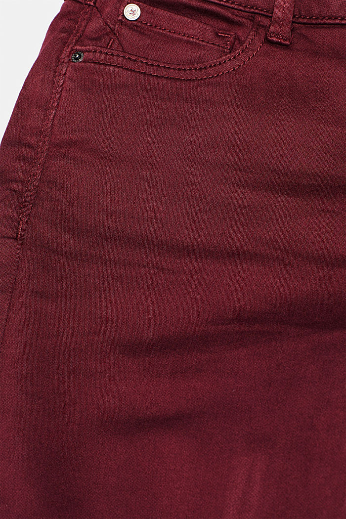 Super stretch jeans made of tracksuit fabric, GARNET RED, detail image number 4