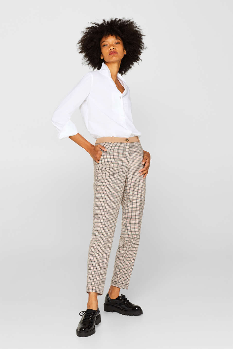 Esprit - Pantalon stretch Mix + Match HAHNENTRITT