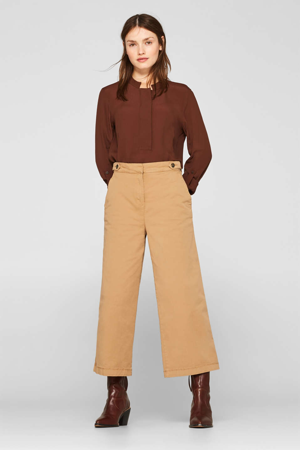Esprit - Culottes with organic cotton