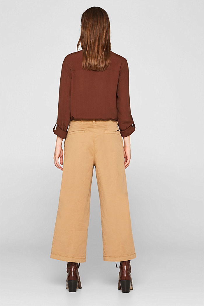 Culottes with organic cotton, CAMEL, detail image number 3