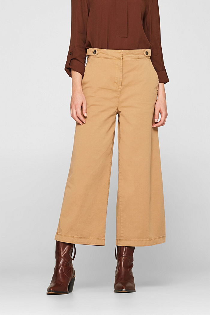 Culottes with organic cotton, CAMEL, detail image number 6