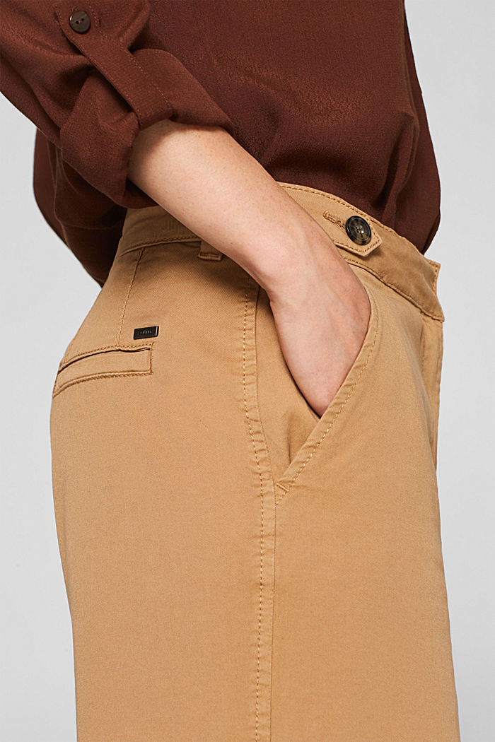 Culottes with organic cotton, CAMEL, detail image number 2