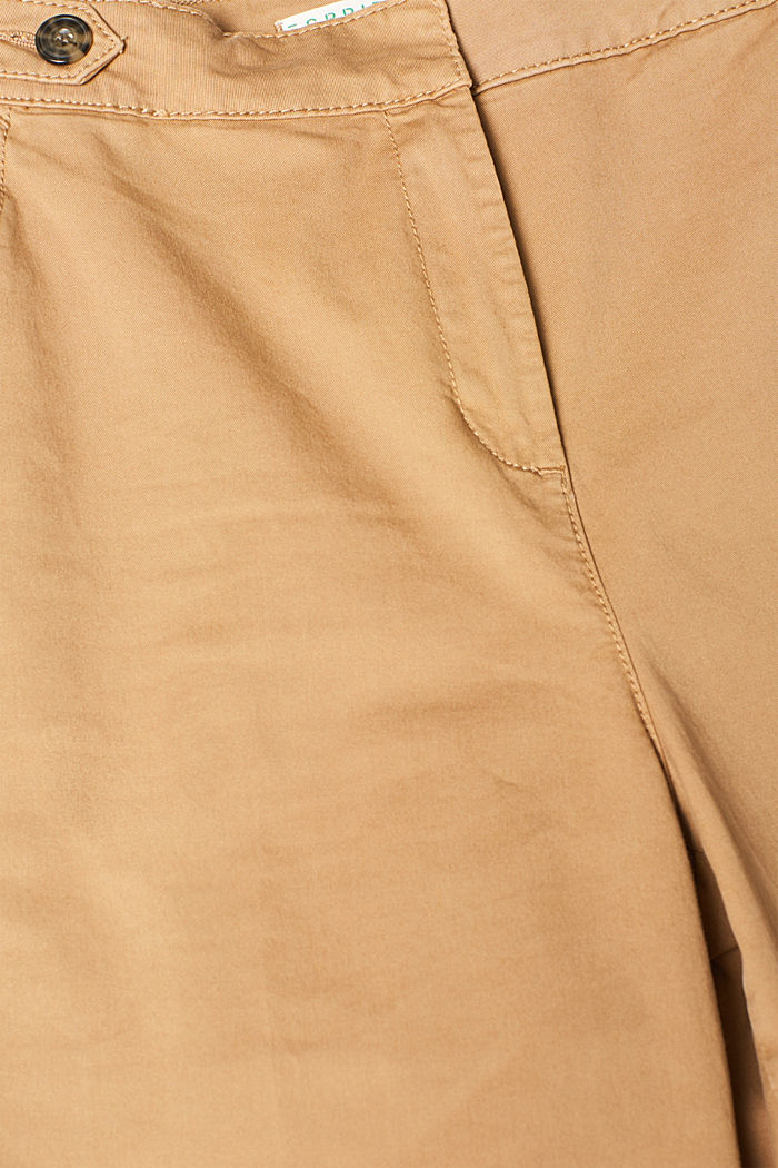 Culottes with organic cotton, CAMEL, detail image number 4