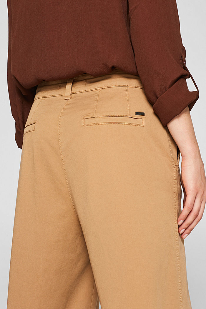 Culottes with organic cotton, CAMEL, detail image number 5