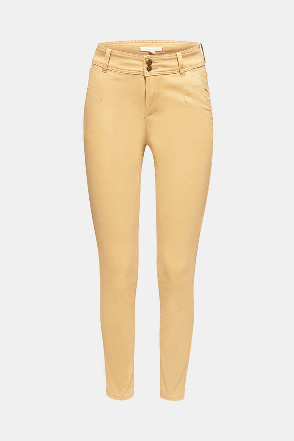 Esprit - Doux pantalon stretch à double bouton