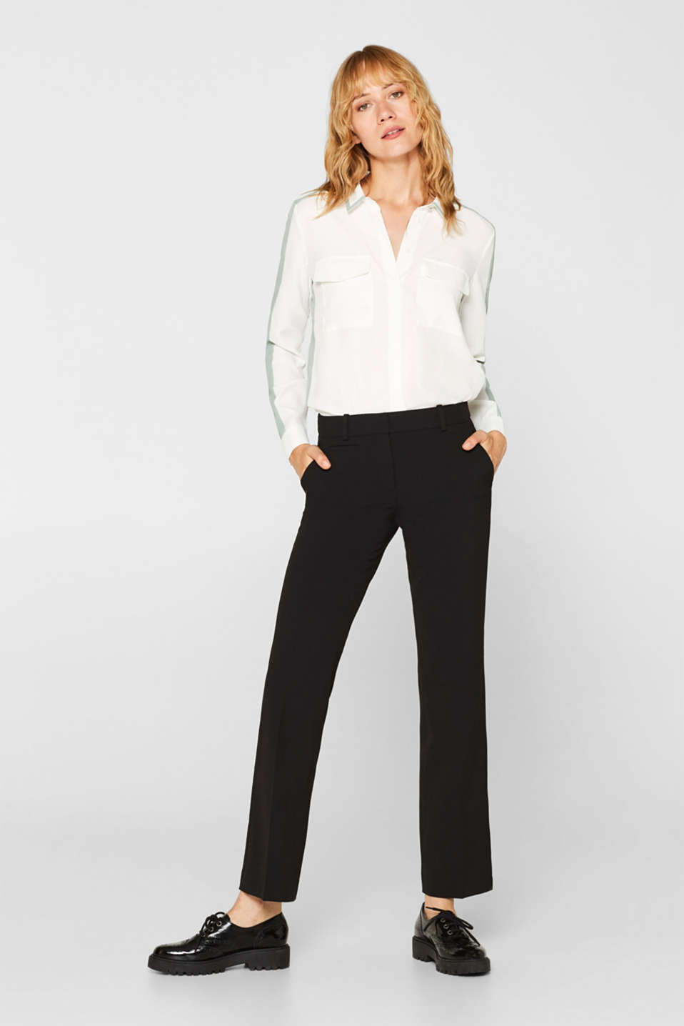 Esprit - Business broek met stretch