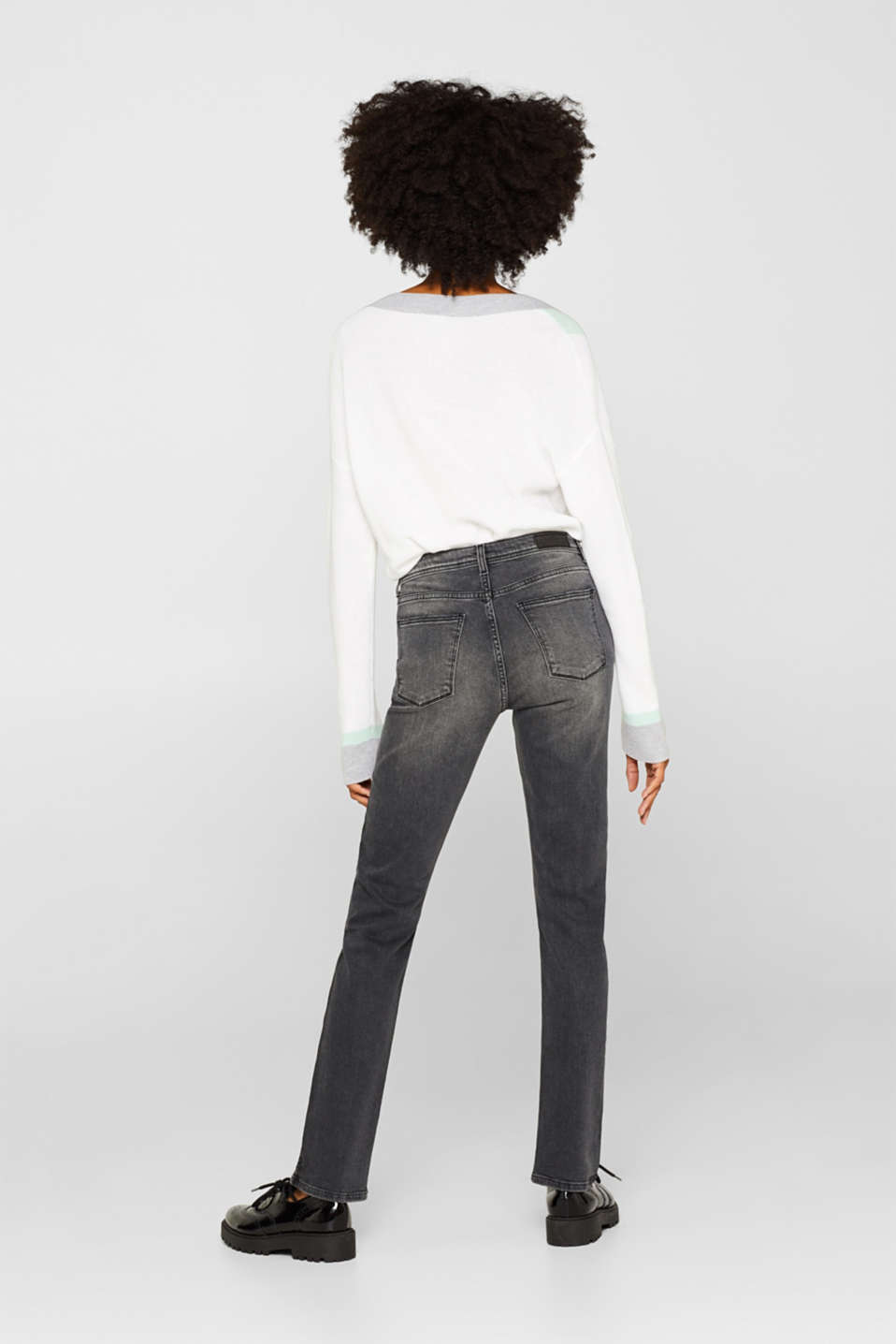 Stretch jeans with a garment wash, GREY DARK WASH, detail image number 3