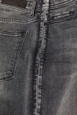 Stretch jeans with a garment wash, GREY DARK WASH, detail