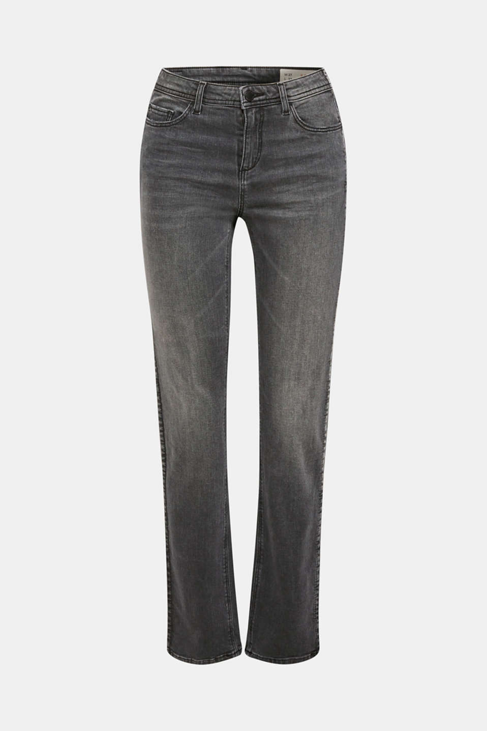 Stretch jeans with a garment wash, GREY DARK WASH, detail image number 7