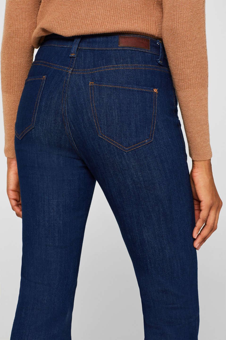 Bootcut stretch jeans, BLUE MEDIUM WASH, detail image number 2