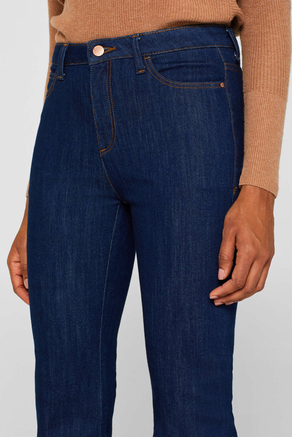 Bootcut stretch jeans, BLUE MEDIUM WASH, detail image number 6