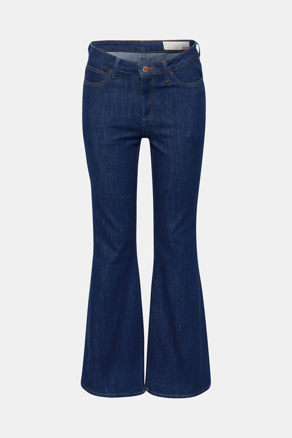Bootcut stretch jeans, BLUE MEDIUM WASH, detail image number 8