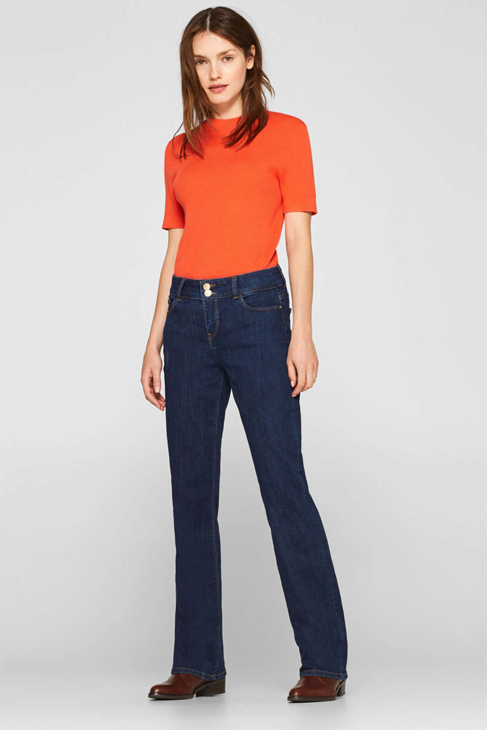 Esprit - Stretch jeans with double button