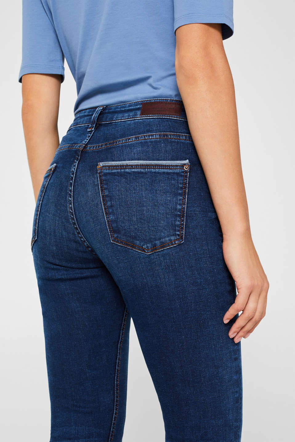 Stretch jeans containing organic cotton, BLUE DARK WASH, detail image number 2