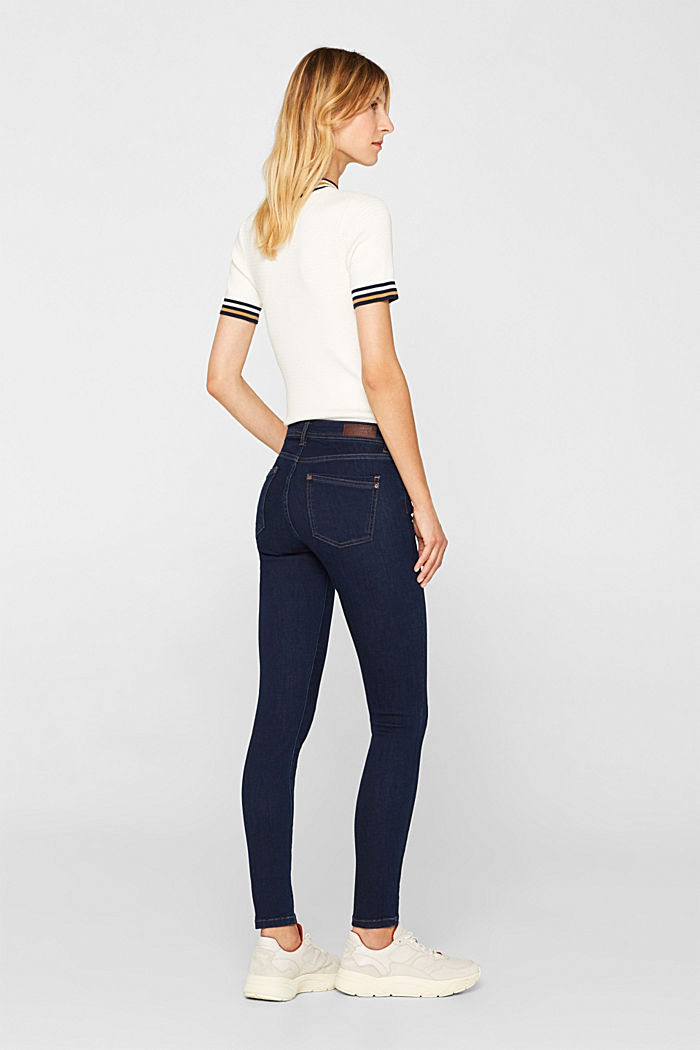 Slim super stretch jeans, BLUE RINSE, detail image number 3