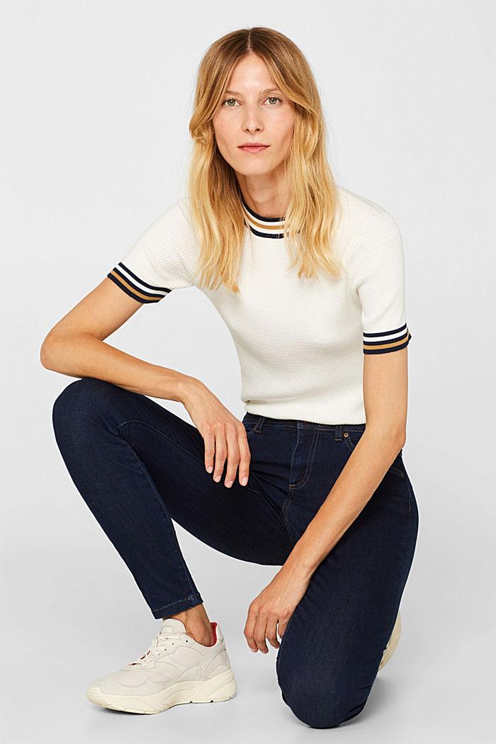 Slim super stretch jeans, BLUE RINSE, detail image number 1