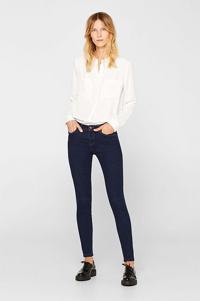 Slim super stretch jeans, BLUE RINSE, detail image number 7
