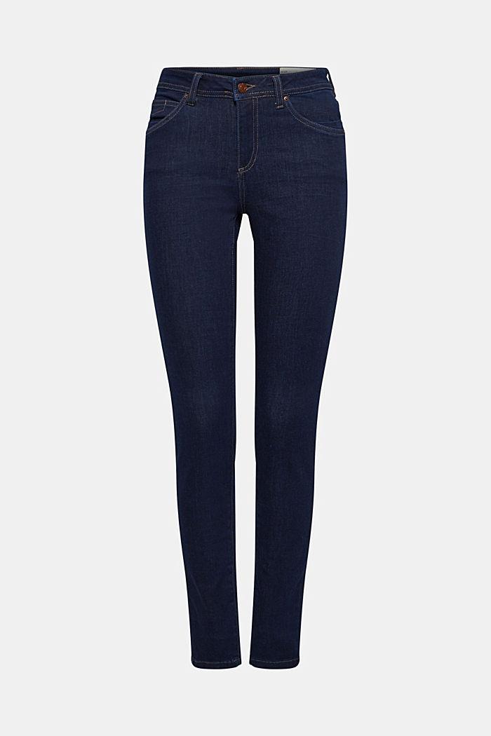 Slim super stretch jeans, BLUE RINSE, detail image number 8