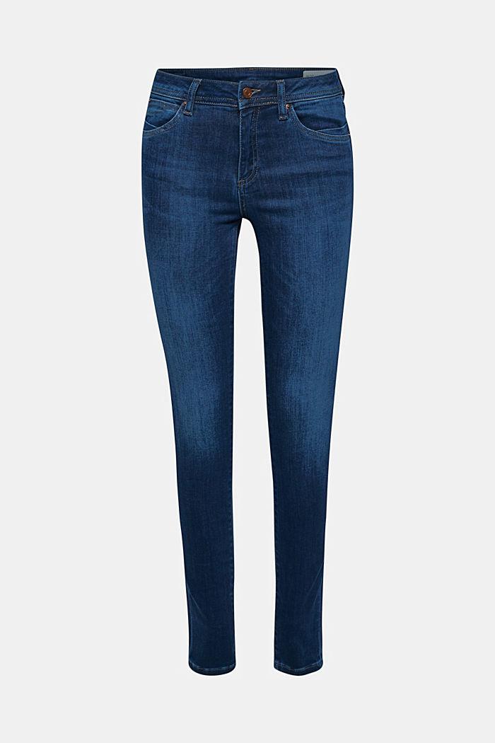 Slim super stretch jeans, BLUE DARK WASHED, detail image number 0