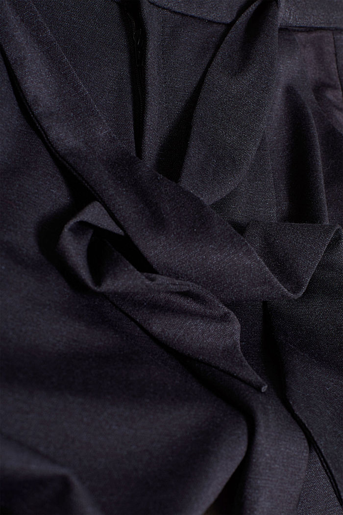 Paper-bag trousers made of stretch jersey, NAVY, detail image number 4