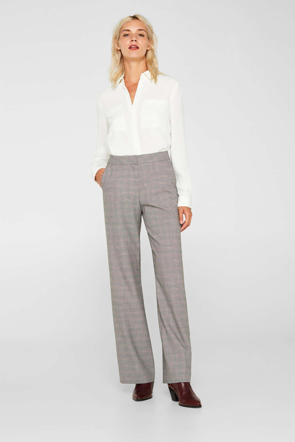 Esprit - Pantalon stretch Mix + Match MODERN CHECK