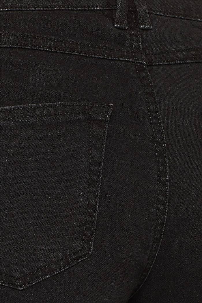 Jeans-Culotte mit offenem Saum, BLACK DARK WASHED, detail image number 4