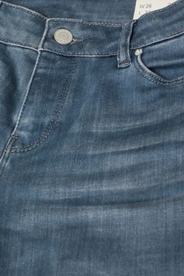 Stretch jeans with wrinkled effects
