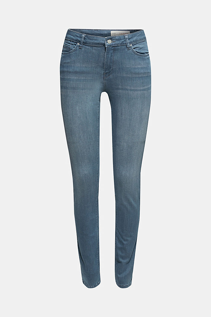 Stretch-Jeans mit Wrinkle-Effekten