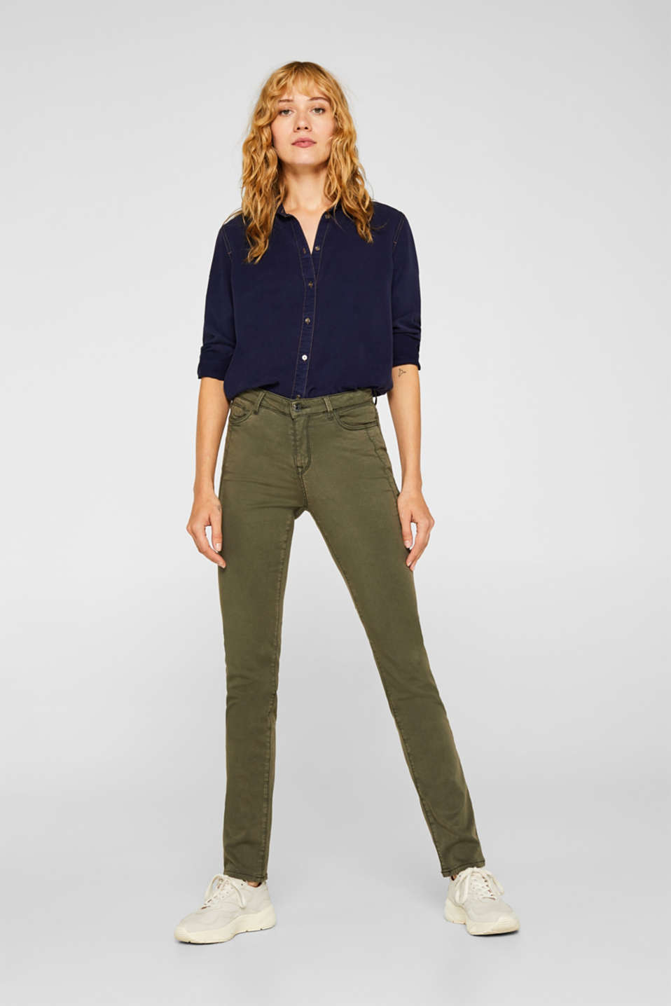 Esprit - Stretch-Pants mit Pattentaschen