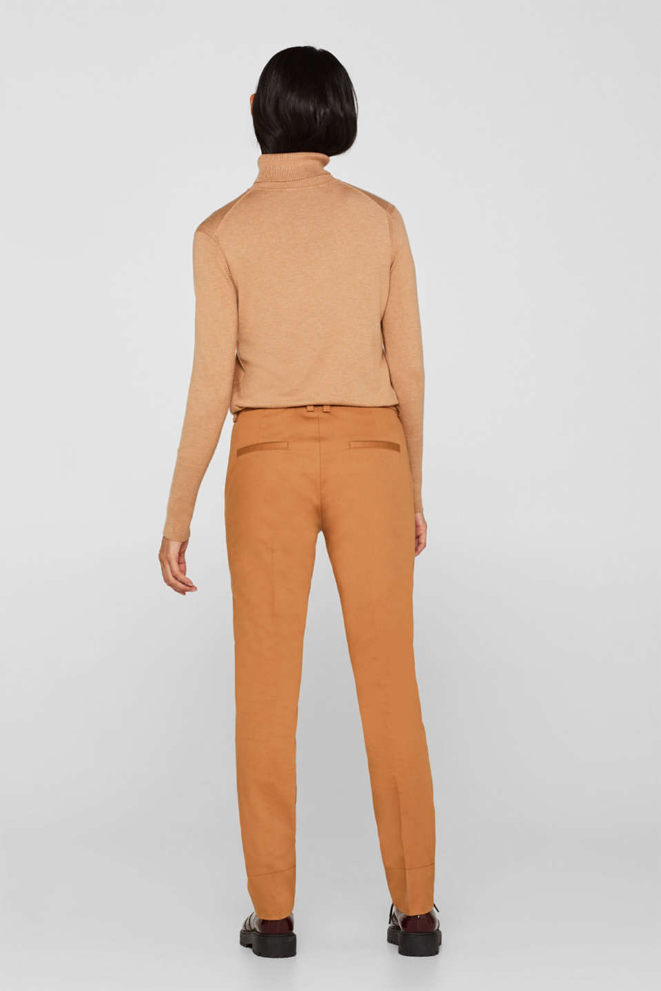 Cotton twill chinos, CAMEL, detail image number 3