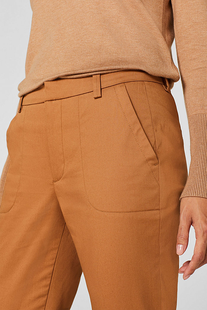 Cotton twill chinos, CAMEL, detail image number 2