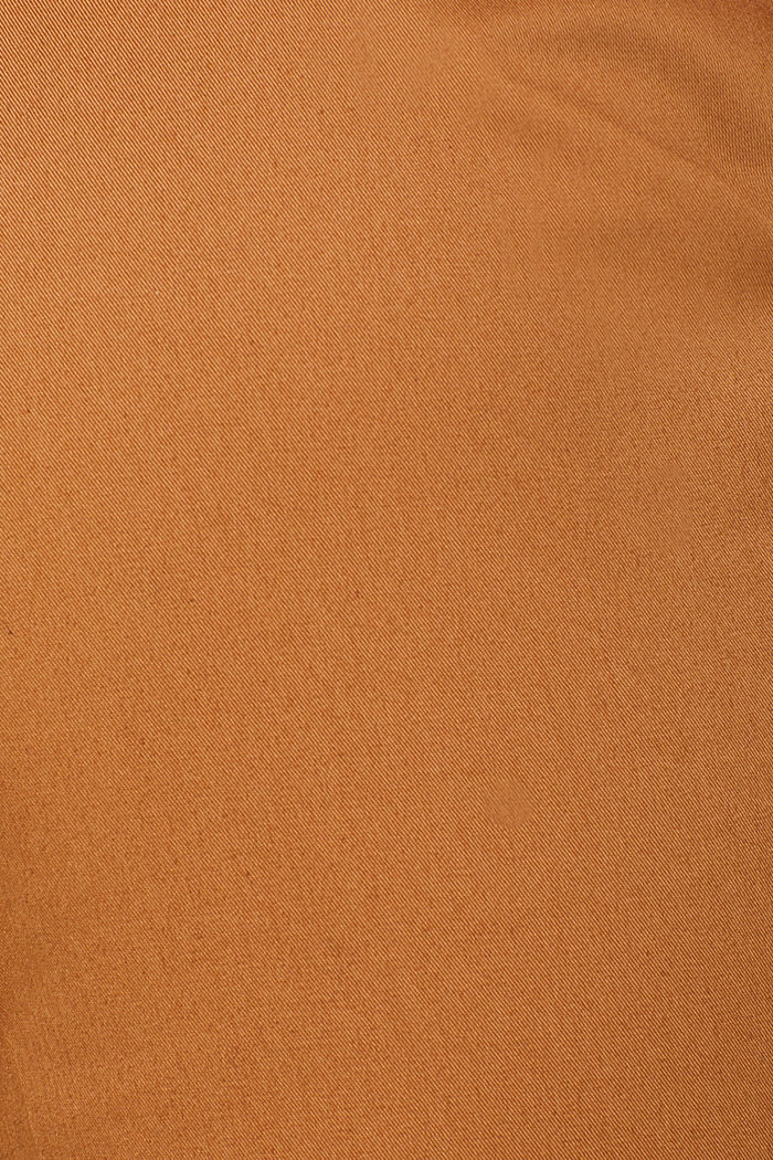 Cotton twill chinos, CAMEL, detail image number 4