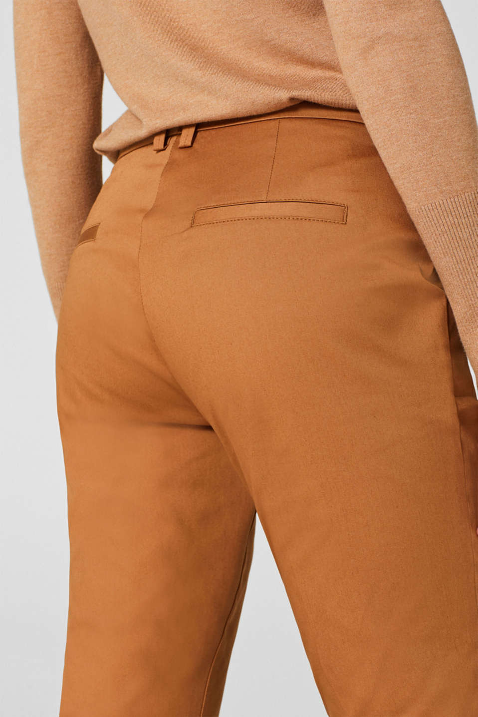 Cotton twill chinos, CAMEL, detail image number 5