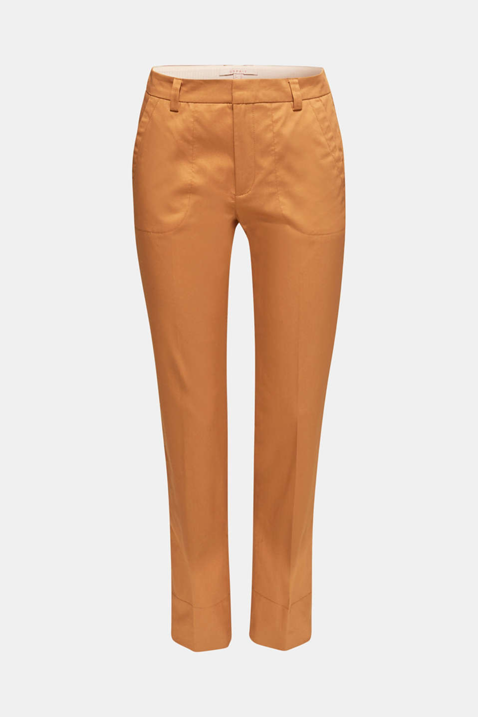 Cotton twill chinos, CAMEL, detail image number 7
