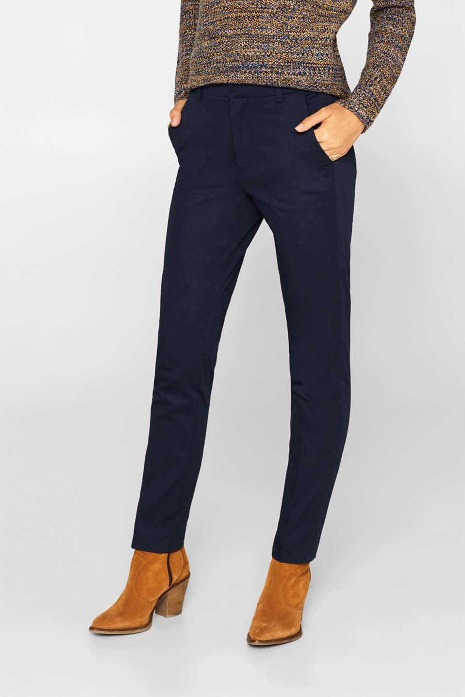 Cotton twill chinos, NAVY, detail image number 5