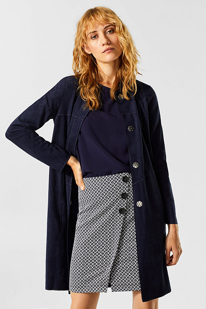 Jersey skirt with a jacquard pattern, NAVY, detail image number 6