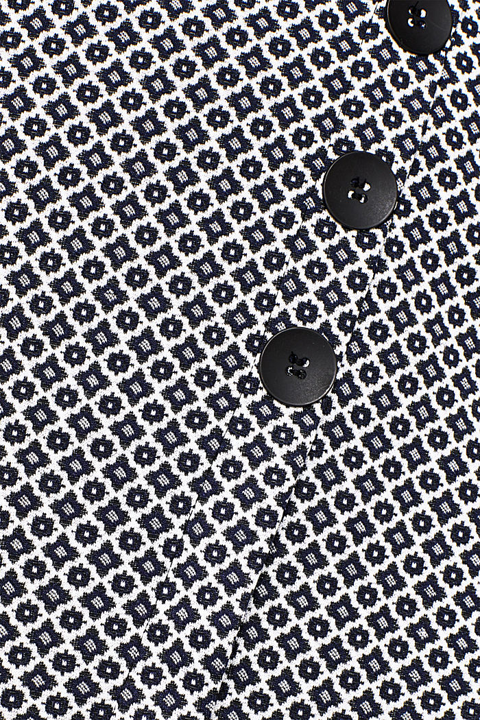 Jersey skirt with a jacquard pattern, NAVY, detail image number 4