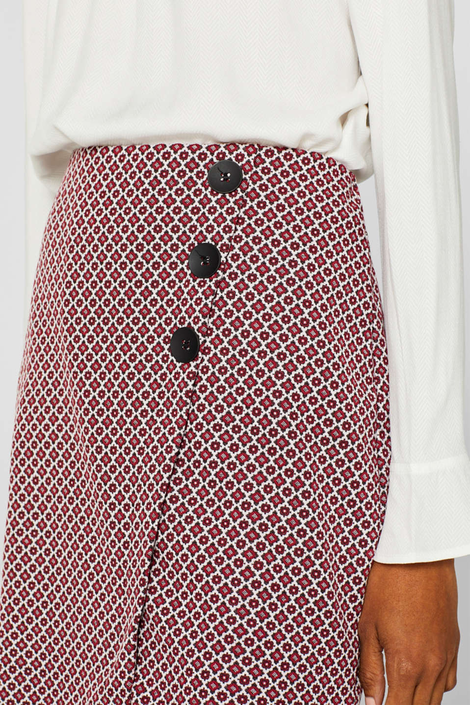 Skirts knitted, GARNET RED, detail image number 2