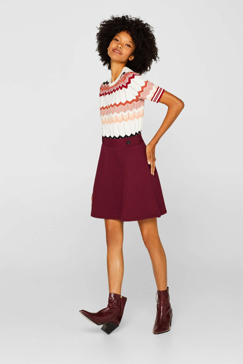 Skirts knitted, GARNET RED, detail image number 1