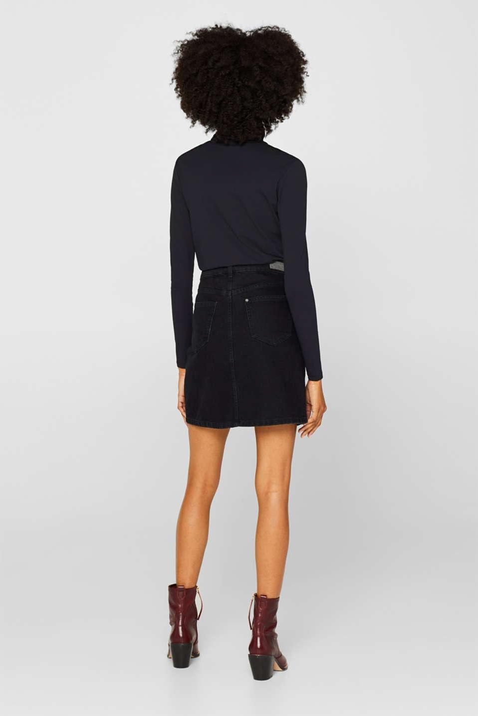 Skirts denim, BLACK DARK WASH, detail image number 3
