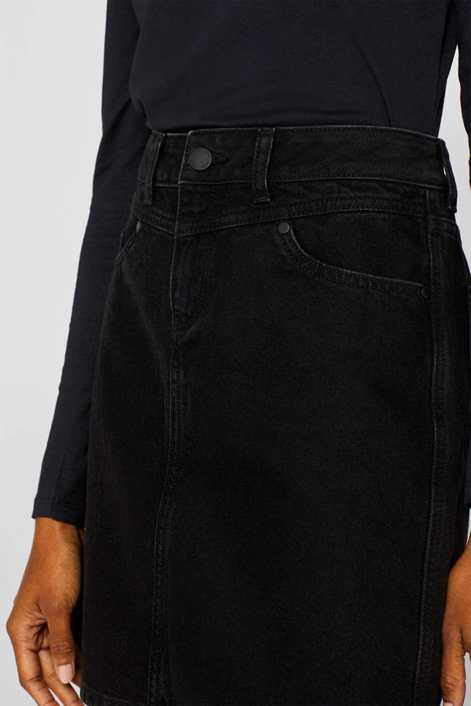 Skirts denim, BLACK DARK WASH, detail image number 2
