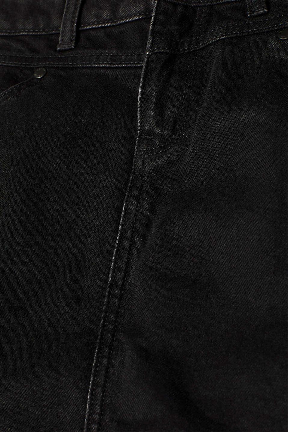 Skirts denim, BLACK DARK WASH, detail image number 4