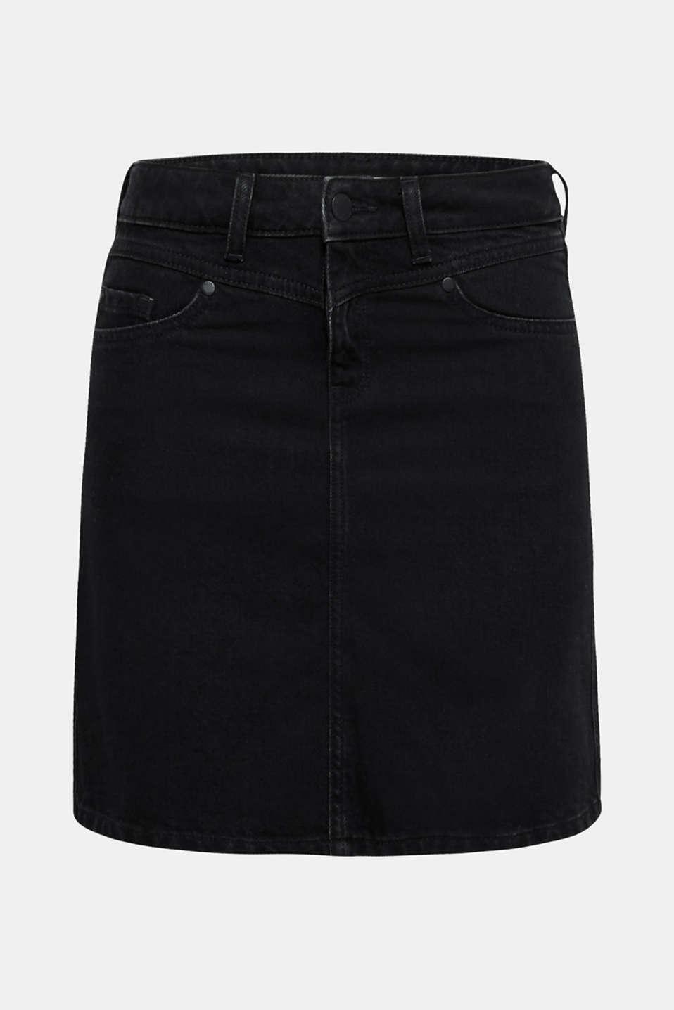Skirts denim, BLACK DARK WASH, detail image number 7