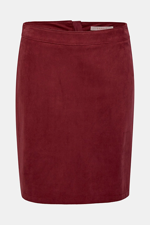 Skirt in imitation suede